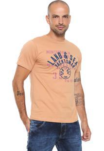 Camiseta Yachtsman Estampada Laranja