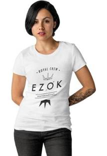 Camiseta Ezok Royal Crew Feminina - Feminino-Branco