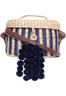 Bolsa Kiki Listras Nannacay - Azul