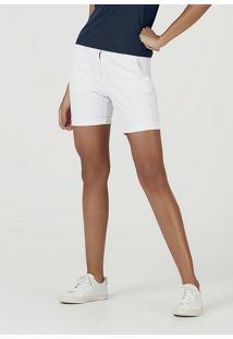 Bermuda Básica Feminina De Sarja Com Modelagem Chino