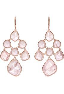 Monica Vinader Rp Siren Chandelier Rose Quartz Earrings - Rosa