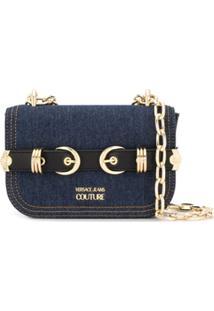 Versace Jeans Couture Bolsa Transversal Jeans Com Fivelas - Azul
