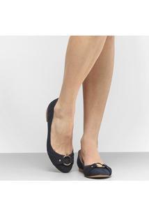 Sapatilha Couro Shoestock Argola Feminina - Feminino