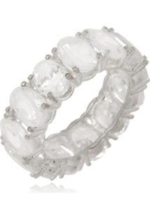 Anel Le Diamond Alianã§A De Zircã´Nia Rã³Dio Branco - Branco - Feminino - Dafiti