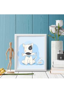 Quadro Decorativo Infantil Dog Baby Branco - 20X30Cm - Multicolorido - Dafiti