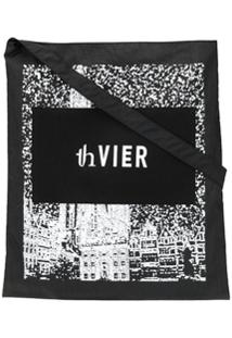 Th X Vier Antwerp Bolsa Tote Com Estampa Fotográfica - Preto