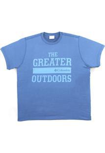Camiseta Columbia The Greater Outdoor Azul Carbon 320280