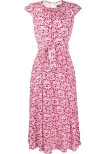 Weekend Max Mara Vestido Com Estampa Floral - Rosa