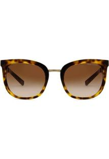 Óculos De Sol Armani Exchange Tartaruga Brilhante Feminino - Feminino-Marrom