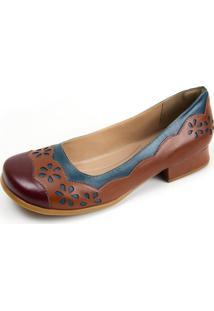 Sapato Miuzzi Chilli / Chocolate / Azul Ref: 3203