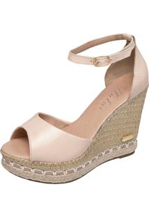 Sandã¡Lia Sb Shoes Anabela Ref.3200 - Feminino - Couro - Dafiti