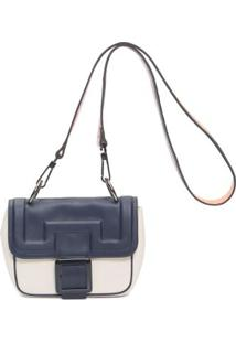 Bolsa Leather Tricolor Animale - Azul