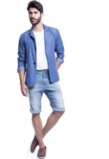 Bermuda Jeans Osmoze Middle Plus Cor Única Azul
