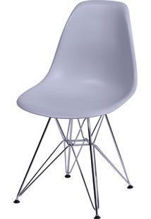 Cadeira Eames Dkr Or-1102 C/ Pés Cromados - Cinza