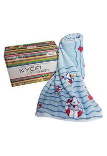 Cobertor Bebê Menino Jolitex Microfibra Flannel Kyor Marinheiro