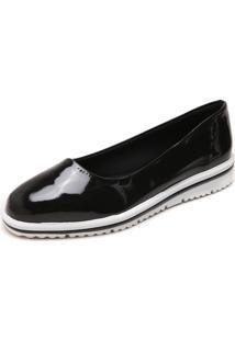 Sapatilha Dafiti Shoes Flatform Listras Preta