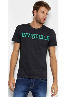 Camiseta Sommer Estampada Masculina - Masculino-Preto
