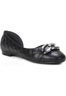 Sapatilha Couro Shoestock Matelassê Metal Feminina - Feminino
