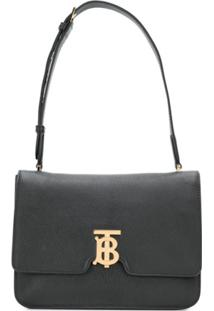 Burberry Medium Tb Shoulder Bag - Preto