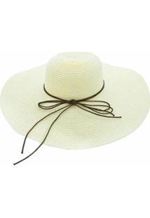 Chapéu Sombrero Alma De Praia De Palha Khaki - Feminino