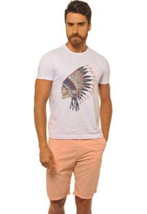 Camiseta Joss Premium New Indian Skull Masculina - Masculino-Branco
