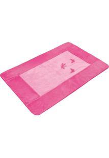 Tapete Passadeira Premium 120Mx74Cm Libélula Pink Guga Tapetes