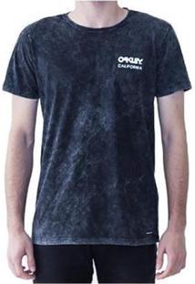 Camiseta Oakley Poisonous Masculino - Masculino-Marinho