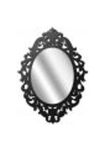 Espelho Decorativo Com Moldura Preto Luís Xv I01 - Lyam Decor
