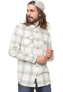 Camisa Vans Reta Mn Monterey Iii Natural Off-White