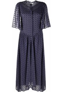Isabel Marant Étoile Turin Embroidered Cotton Maxi Dress - Azul
