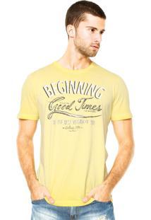 Camiseta Colcci Estampa Amarela