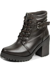 35a2b77f8 ... Coturno Tratorado Couro E-Shoes Calçadonet 19000 Chocolate 3 Meias E 1  Bolsa