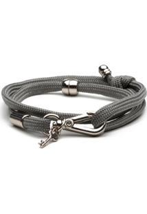 Pulseira Key Design - Azzam Grey - Masculino-Cinza