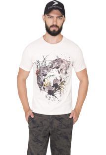 Camiseta Fish And Drop Estampada Branca