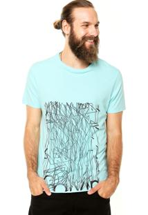 Camiseta Calvin Klein Jeans Risca Fina Verde