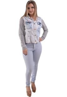 Jaqueta Lady Rock Mell Jeans Azul
