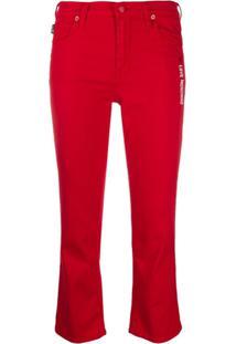 Love Moschino Cropped Skinny Fit Jeans - Vermelho