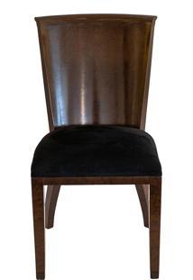 Cadeira Madeira Imbuia C/ Assento Camurca Black