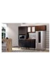 Cozinha Completa Amore 10 Pt 2 Gv Preta E Malbec