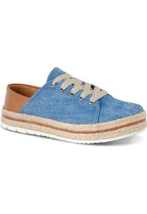 Tênis Flatform Corda Prime Shoes Feminino - Feminino-Azul