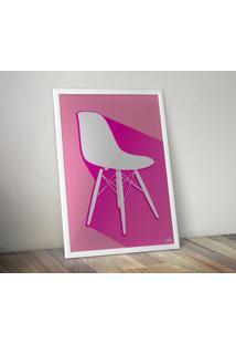 Pôster Cadeira Eames Dsw - Rosa