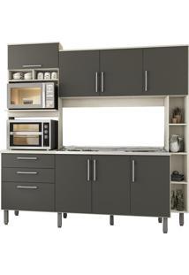 Cozinha Compacta Jaeli Carol J620, Nebraska Chumbo