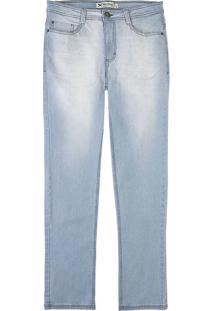 Calça Jeans Masculina Hering Slim Com Efeito Amassado