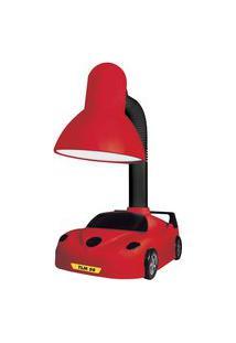 Luminária De Mesa Taschibra Tlm50 Kids E27 Articulável Vermelha