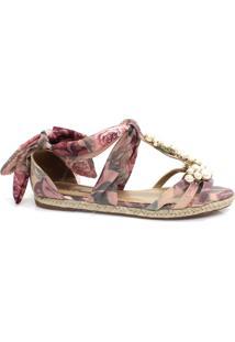 Sandália Zariff Shoes Rasteira Espadrille Rosa