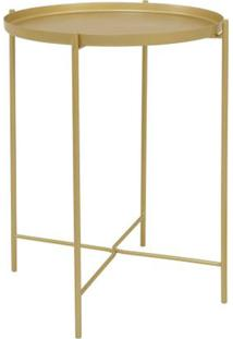 Mesa Apoio Bath Gold 42Cm - 60016 - Sun House