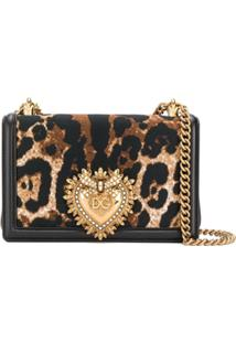 Dolce & Gabbana Bolsa Tiracolo Devotion Animal Print - Neutro