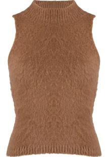 Versace Blusa De Tricô - Marrom