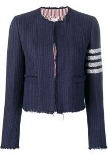 Thom Browne Cropped Tweed Jacket - Azul