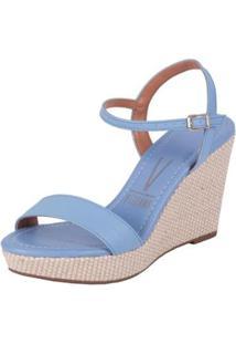 Sandalia Vizzano Jeans Feminina - Feminino-Azul